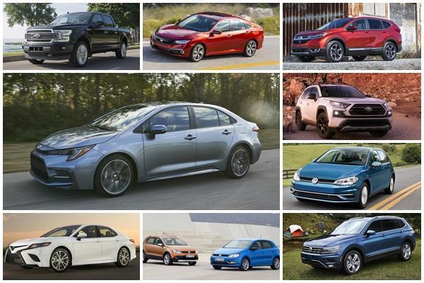 2019全球1~5月新車銷售排行,休旅車被擠出前三名