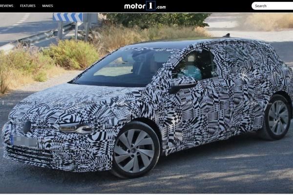 新一代 Golf 最省油車型測試身影曝光,預計明年初登場!