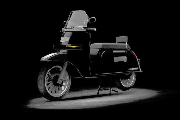 比照 Gogoro 採電池交換!極速 120 公里復古外型電動機車亮相
