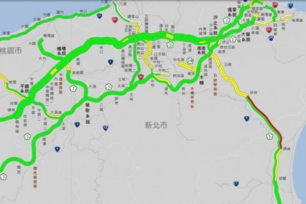 國 5 北上湧車潮時速不到 40 北返避開 9 大地雷路段