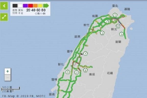 雙十連假首日塞爆 北部路段時速僅 20 公里