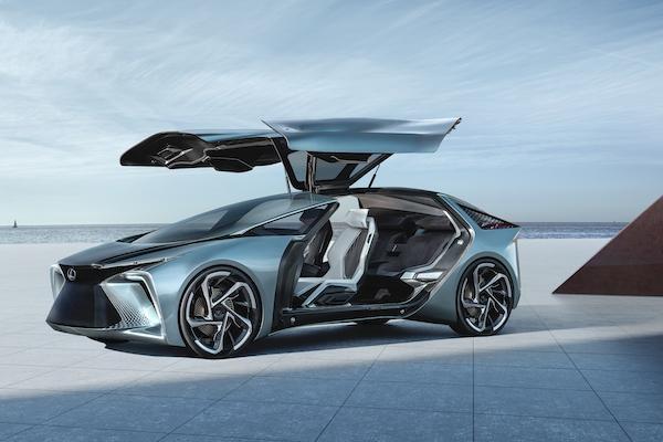 3.8 秒加速破百!鷗翼車門 Lexus 電動概念車東京車展亮相
