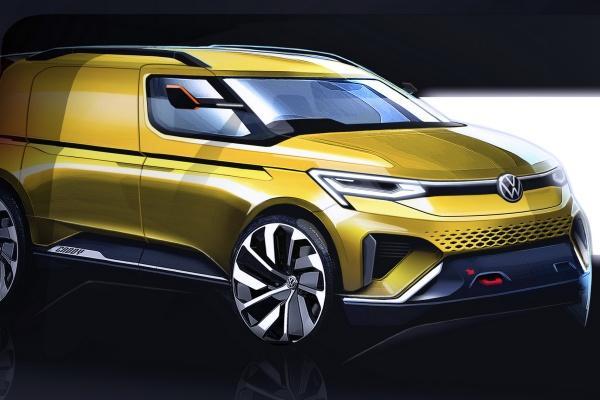 VW 釋出主力商用車 Caddy 大改款草圖,明年 2 月正式發表!