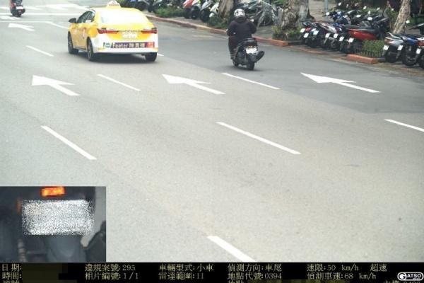 沒僥倖!測速照相多車入鏡 仍可開罰