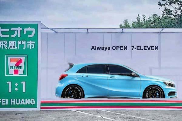 排隊也甘願!車迷最新拍照打卡點,首推新竹超商 1:1 模型車盒!