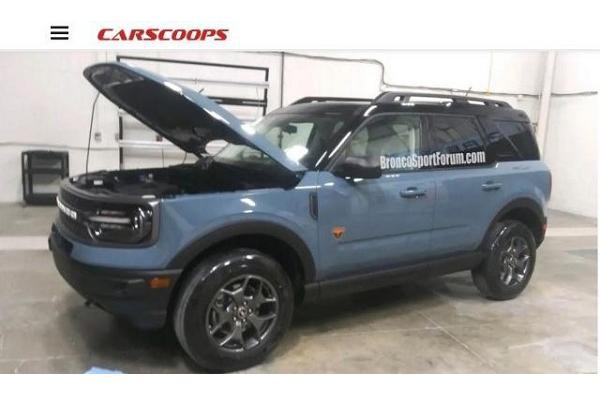 複製貼上 Kuga 的內裝,Ford 新休旅 Bronco Sport 車室曝光!