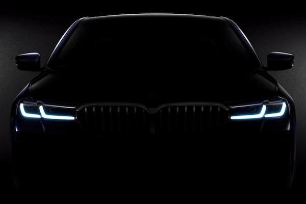 秀一張車頭照片吊車迷胃口,BMW 透露: 5 系列小改款再等 2 週就發表!