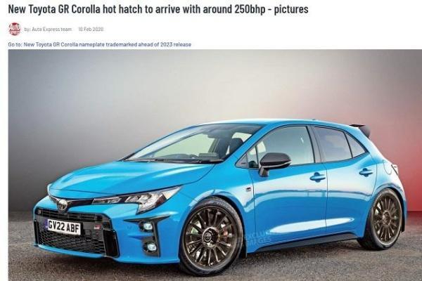 Toyota 全新 GR Corolla 更多資訊曝光,動力上看 272 匹!