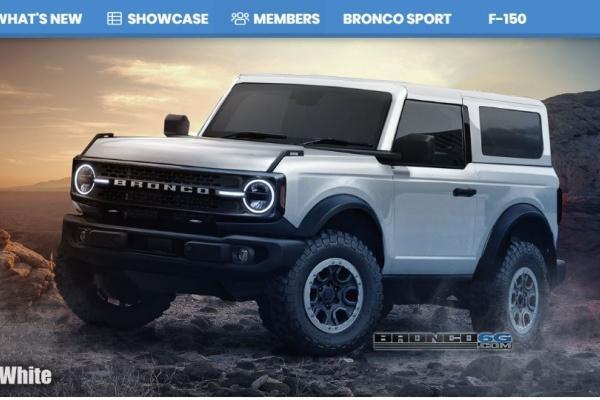 Ford 越野休旅 Bronco 可能樣貌出爐,預計出現手排選項!