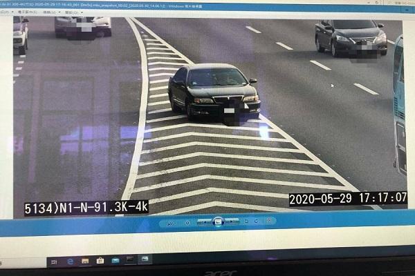 新竹、苗栗國道設「天眼」 違規件數多