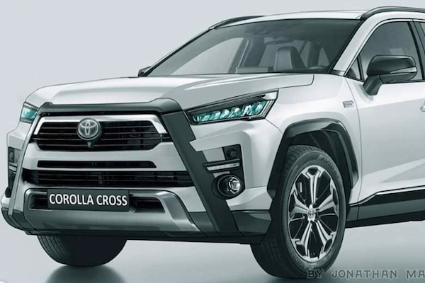 先讓車迷提前感受!設計師繪製 Toyota Corolla Cross 預想圖曝光