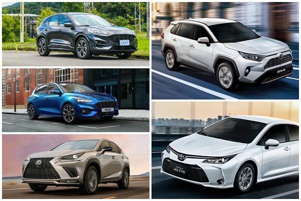 台灣 1~5 月新車銷售:Toyota RAV4 超前 Altis、Honda CR-V 戰況緊急!