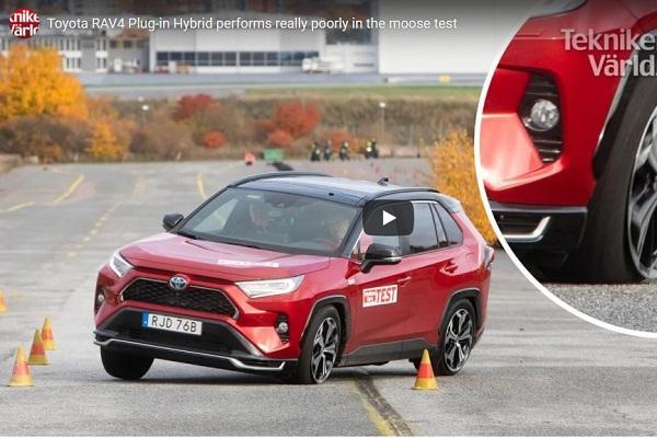 最省油 Toyota RAV4 挑戰麋鹿測試,結局超展開!〈有影片〉