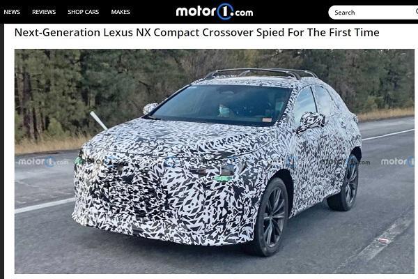 終於現身了!大改款 Lexus NX 首度被捕獲