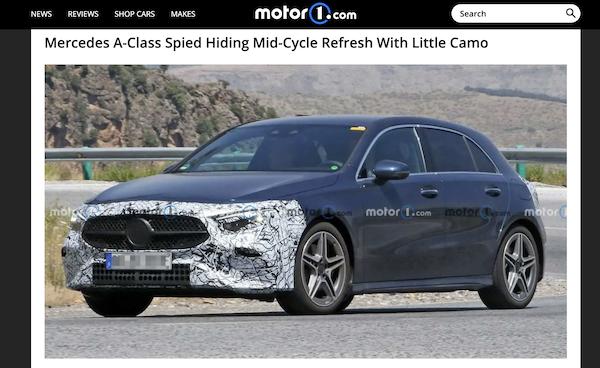 外觀改最多的在這兩處!賓士 A-class 小改款偽裝車亮相