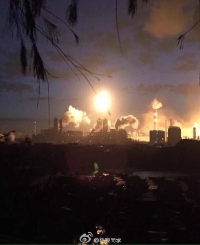 陳由豪漳州石化廠爆炸 不到2年第2次爆炸