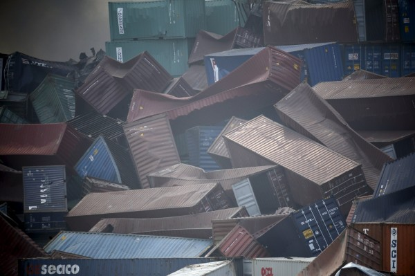 天津爆炸 長榮集團無法進入 貨櫃損失尚難估計