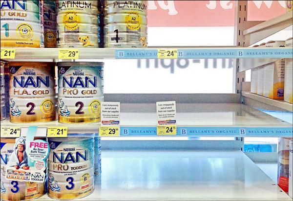 〈國際現場〉澳超市祭奶粉限購令