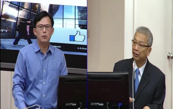 黃國昌質疑臉書在台繳稅太少    財長允諾個案檢討