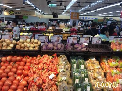 颱風接近,量販店、超市蔬菜備貨量增2~5倍