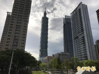 強颱來襲 台北101提前晚上6點打烊
