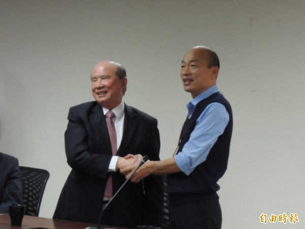 與林義守談企業投資 韓國瑜舉台北大巨蛋「三輸」為例