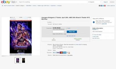 《復仇者聯盟》4預售票房超火爆  eBay被炒到2張28萬!