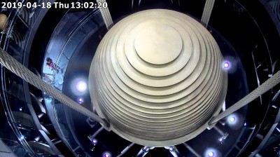 花蓮強震!台北101風阻尼球擺幅達20公分  創次高紀錄