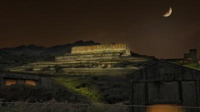 台電打造台版天空之城 中秋夜點亮十三層遺址