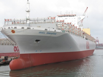 為德翔海運全貨櫃輪加裝脫硫器  台船:最環保船型