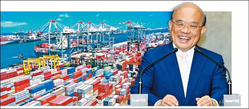 蘇揆:我第二季GDP領先 台商回流是主因