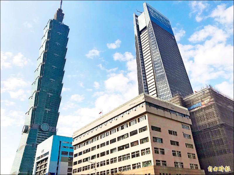 101大樓20樓租金 2個月漲近1成