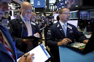 美債殖利率回穩 道瓊早盤漲逾百點
