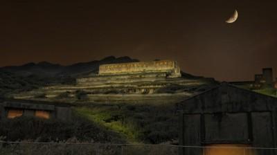 台電點亮十三層遺址 中秋夜重現「臺版天空之城」風貌