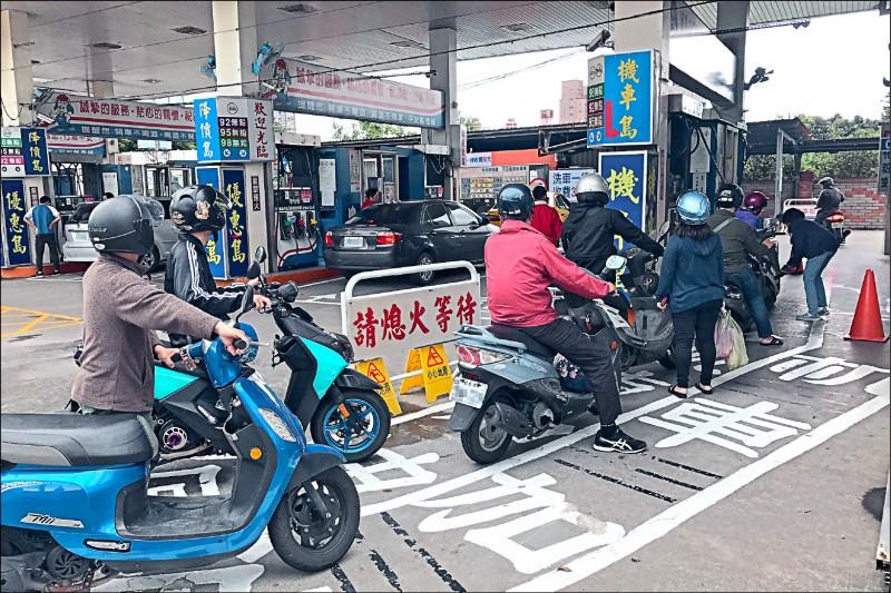 下週汽油 估漲0.7元