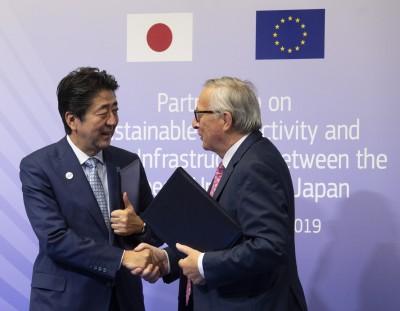 歐盟日本將推「歐亞連結」 抗衡中國「一帶一路」