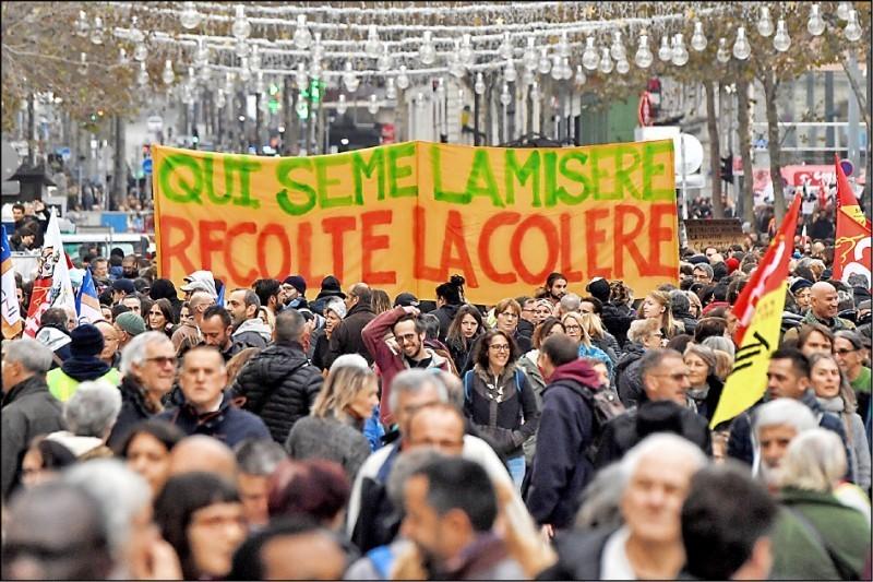 法國大罷工越演越烈  工會揚言10日發起第2波示威