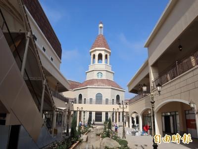 麗寶Outlet Mall二期商場明天試營運  宛如走進歐洲童話小鎮