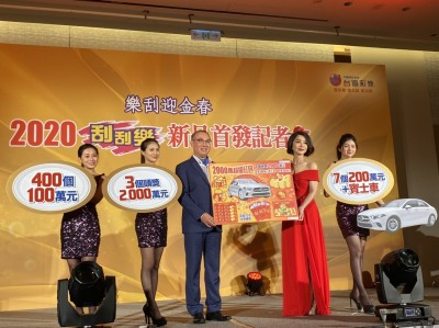 台彩2020首波刮刮樂 最高獎金2000萬、總獎金高達106億!