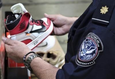 美海關10大違禁品沒收案 中國假Nike鞋榜上有名