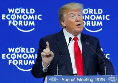 世界經濟論壇  川普吹捧美國經濟成就的主政秘訣