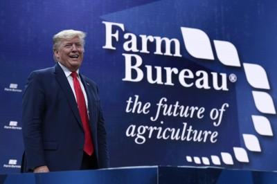 不畏貿易戰衝擊仍支持 川普「固盤」謝農民