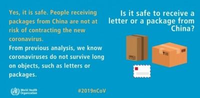 免驚!中國進口郵包殘留病毒? 海關:目前無證據顯示