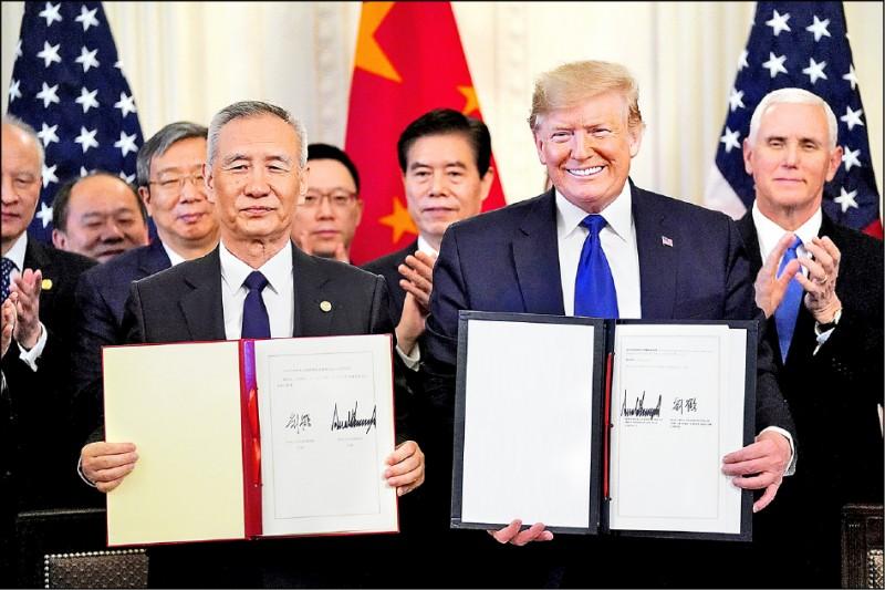 我國防部智庫︰疫情影響中國履行美中貿易協議