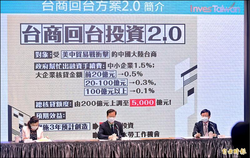 台商回台投資 520前可望破1兆元