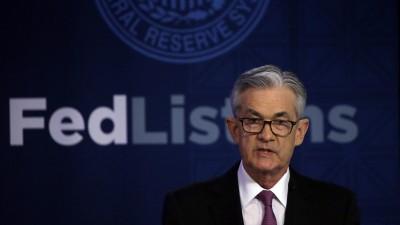 Fed主席鮑爾:美國經濟V型反彈的機率渺茫