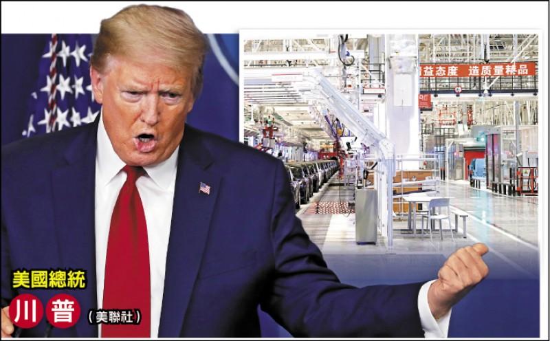 川普嗆課新稅 迫美企撤離中國