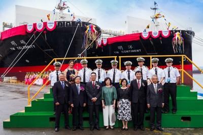 陽明船隊添新力 台船打造2艘2800TEU今交船