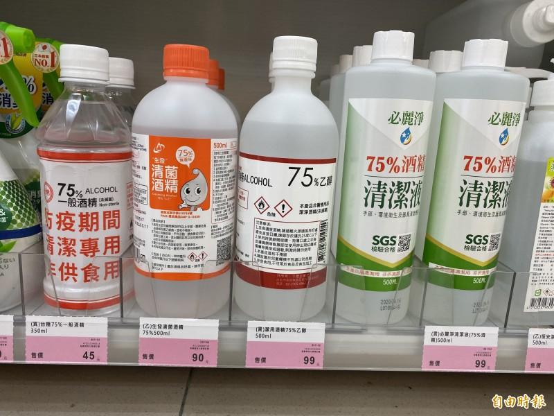 75%防疫酒精不缺了 價格卻大漲3~5成