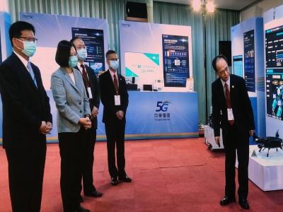 中華電5G開台 蔡英文:與美日韓一併進入5G時代